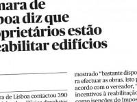 Câmara de Lisboa diz que proprietários estão a reabilitar edíficios