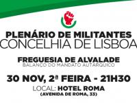 Plenários de Militantes | Concelhia de Lisboa | Secção Alvalade