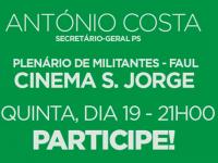 António Costa em Lisboa para Plenário Distrital da FAUL