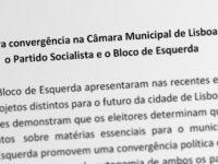 Acordo entre o Partido Socialista e o Bloco de Esquerda no âmbito da governação da Câmara Municipal de Lisboa